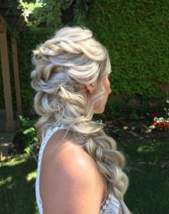 Ink Beauty Bar Virginia Blow Out Blow Dry Hair Done Up for a wedding